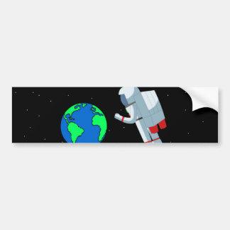 Space Man Bumper Sticker