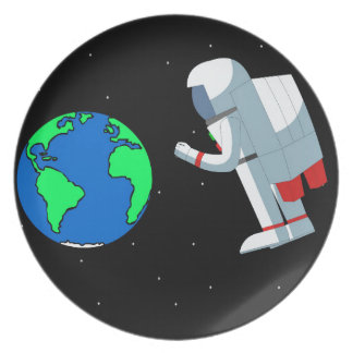 Space Man Plate