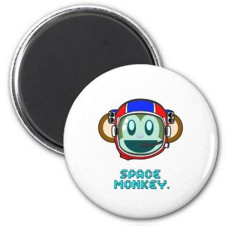 space monkey 6 cm round magnet