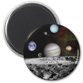 space montage 6 cm round magnet