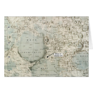 SPACE: MOON MAP, 1972 CARD