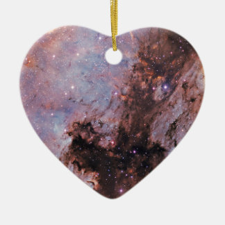 Space nebula ceramic heart decoration