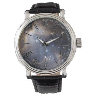 Space Nebula Galaxy Roman Numeral Watch