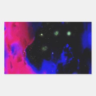 Space Nebula Rectangular Sticker