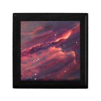 Space nebula small square gift box