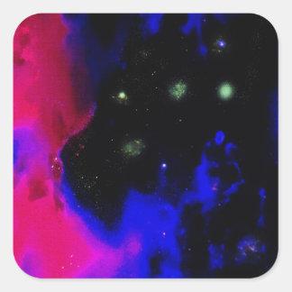 Space Nebula Square Sticker