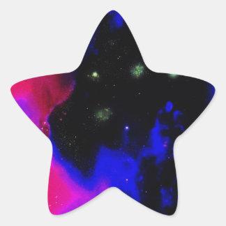 Space Nebula Star Sticker