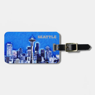Space Needle in Seattle, Washington State Bag Tag