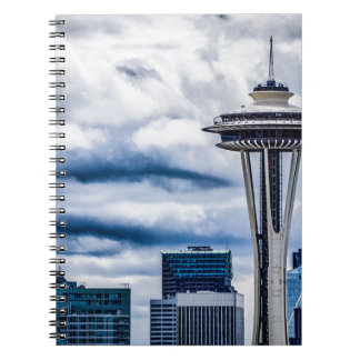 space needle seattle washington notebook