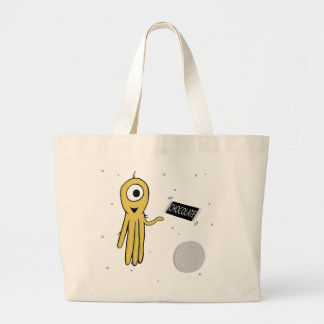 space octopus tote bag