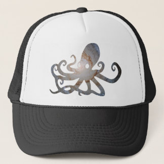 Space octopus trucker hat