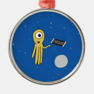 Space octopus with candy bar ornament