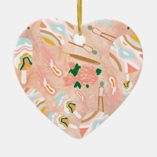 Space Opera: Ice-cream Planet Ceramic Heart Decoration