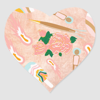 Space Opera: Ice-cream Planet Heart Sticker