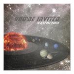 Space Party Birthday Invitation 13 Cm X 13 Cm Square Invitation Card