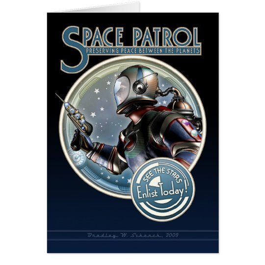Space Patrol Greeting Card
