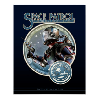 "Space Patrol poster (16x20"")"