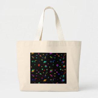 Space pattern large tote bag