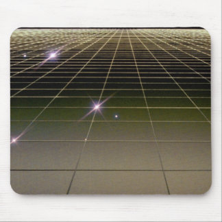 Space perspective grid mouse pad