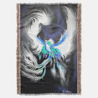 Space Phoenix Throw Blanket