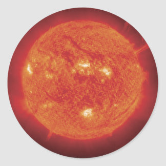 Space Photo Sun Round Sticker