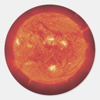 Space Photo Sun Round Sticker