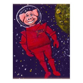 Space Pig Postcard