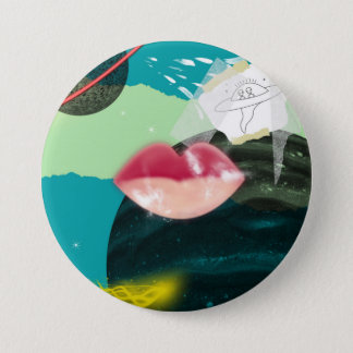 space pin/button 7.5 cm round badge