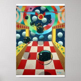 space pinball poster