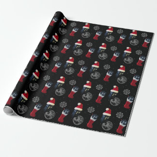 space police box design wrapping paper