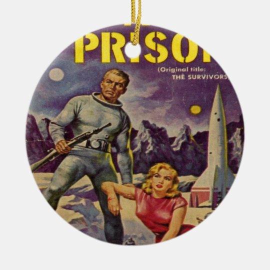 Space Prison Ceramic Ornament