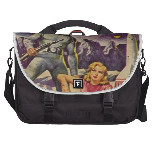 Space Prison Laptop Messenger Bag
