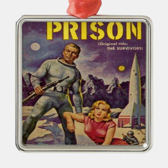 Space Prison Metal Ornament