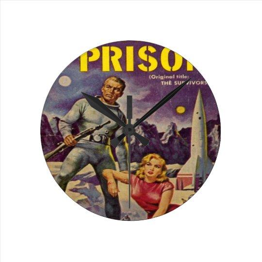 Space Prison Round Clock
