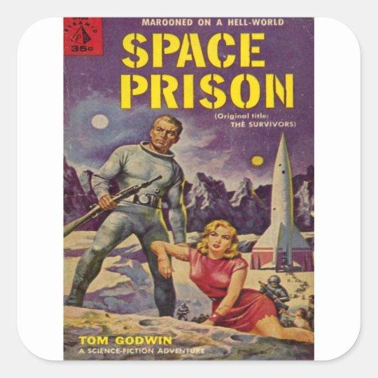 Space Prison Square Sticker