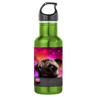 space pug - pug food - pug cookie 532 ml water bottle