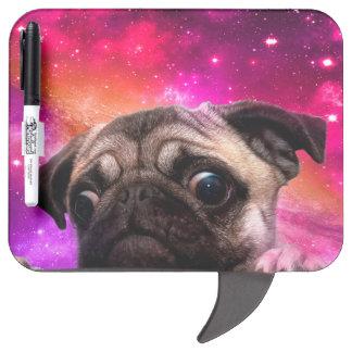 space pug - pug food - pug cookie dry erase board