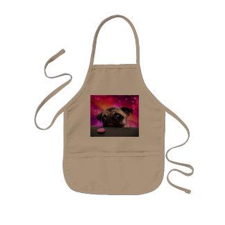 space pug - pug food - pug cookie kids apron