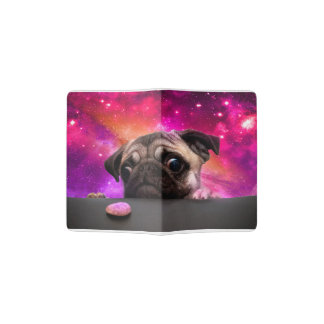 space pug - pug food - pug cookie passport holder