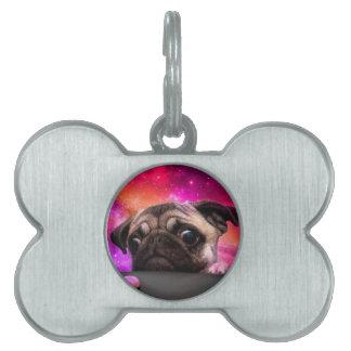 space pug - pug food - pug cookie pet ID tag