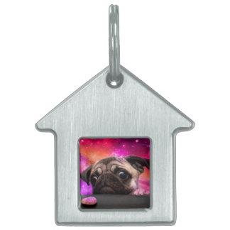 space pug - pug food - pug cookie pet name tag