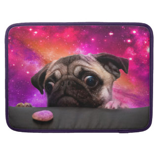 space pug - pug food - pug cookie sleeve for MacBook pro