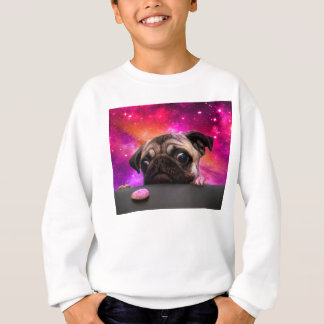 space pug - pug food - pug cookie sweatshirt