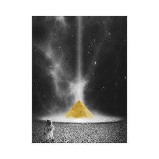 Space Pyramid Canvas Print