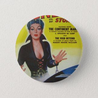 Space Queen Escapes 6 Cm Round Badge
