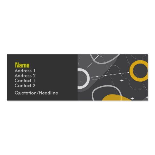 Space Race Profile Card Pack Of Skinny Business Cards