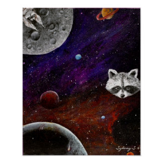 Space Racoons Poster