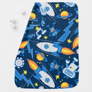Space robot baby blanket
