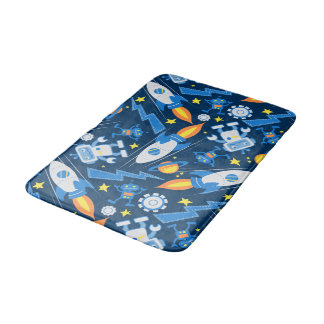 Space robot bath mat