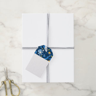 Space robot gift tags
